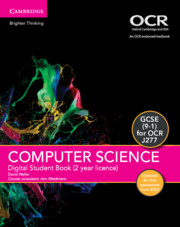 GCSE Computer Science for OCR Digital Student Book (2 Years) Updated Edition