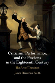 Criticism, Performance and the Passions in the Eighteenth Century