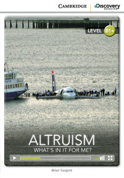 Altruism: What's in it for Me? Intermediate Online Only