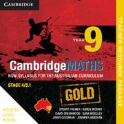 Cambridge Mathematics GOLD NSW Syllabus for the Australian Curriculum Year 9 Teacher Resource (Card)