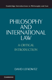 Philosophy and International Law