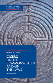 Cicero: <I>On the Commonwealth</I> and <I>On the Laws</I>