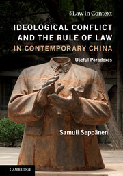 Ideological Conflict and the Rule of Law in Contemporary China