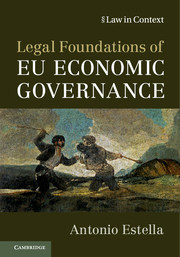 Legal Foundations of EU Economic Governance</I>