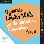 Dynamic English Skills for the Australian Curriculum Year 8 Online Teacher Edition