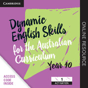 Dynamic English Skills for the Australian Curriculum Year 10 1 Year Subscription