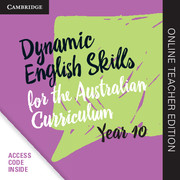 Dynamic English Skills for the Australian Curriculum Year 10 Online Teacher Edition