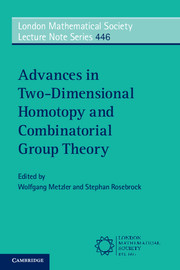 Advances in Two-Dimensional Homotopy and Combinatorial Group Theory