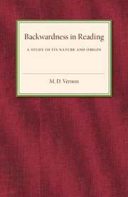 Backwardness in Reading
