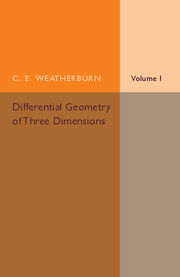 Differential Geometry of Three Dimensions