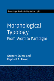 Morphological Typology