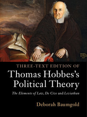 Three-Text Edition of Thomas Hobbes's Political Theory