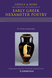 Early Greek Hexameter Poetry