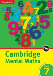 Cambridge Mental Maths Grade 7 English
