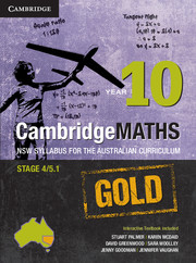 Cambridge Mathematics GOLD NSW Syllabus for the Australian Curriculum Year 10 and Hotmaths Bundle