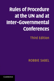Rules of Procedure at the UN and at Inter-Governmental Conferences</I>