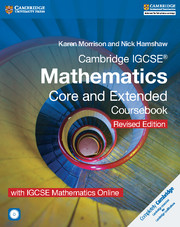 Cambridge IGCSE® Mathematics Core and Extended