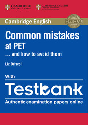 Common Mistakes at PET… and How to Avoid Them Paperback with Testbank
