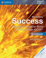 Success International English Skills for Cambridge IGCSE™ Workbook