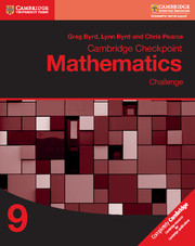 Cambridge Checkpoint Mathematics Challenge Workbook 9