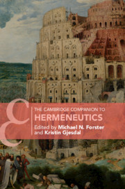 The Cambridge Companion to Hermeneutics Book Cover