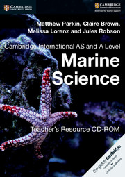 Cambridge International AS and A Level Marine Science Teacher's Resource CD-ROM