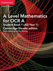 for OCR Student Book 1 (AS/Year 1) Cambridge Elevate edition (2 Years)