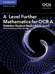 for OCR Statistics Student Book (AS/A Level)