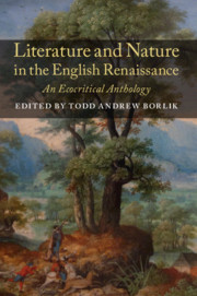 Literature and Nature in the English Renaissance