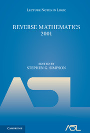Reverse Mathematics 2001