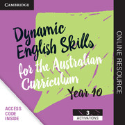 Dynamic English Skills for the Australian Curriculum Year 10 3 Year Subscription