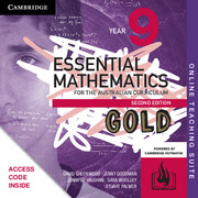Essential Mathematics Gold for the Australian Curriculum Year 9 Online Teaching Suite (Card)