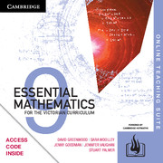 Essential Mathematics for the Victorian Curriculum Year 9 Online Teaching Suite (Card)