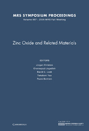 Zinc Oxide and Related Materials