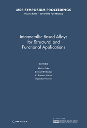 Intermetallic-Based Alloys for Structural and Functional Applications