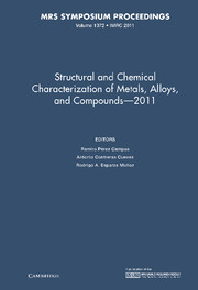 Structural and Chemical Characterization of Metal Alloys and Compounds – 2011