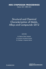 Structural and Chemical Characterization of Metals, Alloys and Compounds–2012