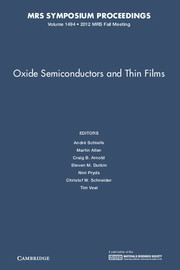 Oxide Semiconductors and Thin Films