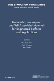 Biomimetic bio inspired and self assembled materials engineered surfaces  and applications volume 1498 | Materials science