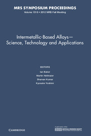 Intermetallic-Based Alloys―Science, Technology and Applications