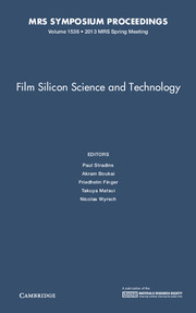 Film Silicon Science and Technology