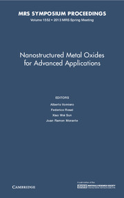 Nanostructured Metal Oxides for Advanced Applications