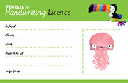 Penpals for Handwriting Pen Licence Cards (pack of 200)