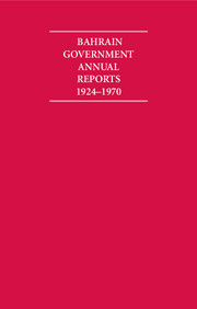 Bahrain Government Annual Reports 1924–1970