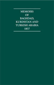 Memoirs of Baghdad, Kurdistan and Turkish Arabia 1857