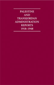 Palestine and Transjordan Administration Reports 1918–1948